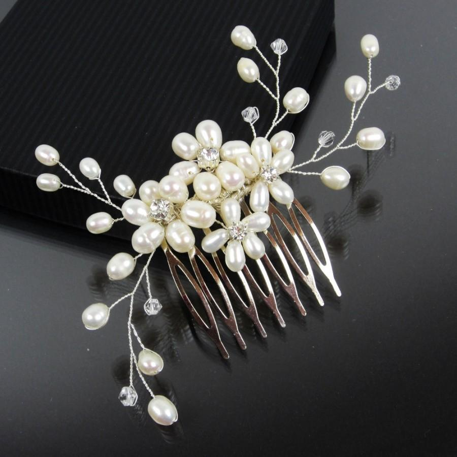 Pearl Bridal Hair Comb Camila Hairpiece Wedding Accessories Headpieces Rhinestone