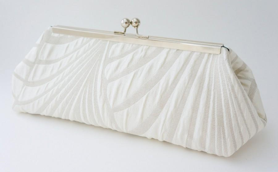 Mariage - Ivory Gatsby Bridal Clutch - 1920's Inspired - Wedding Handbag - Evening/Bridesmaid Purse - Includes Chain - Custom Made to Order
