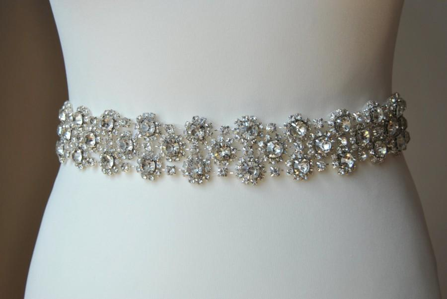 Mariage - Luxury Crystal Bridal Sash,Wedding Dress Sash Belt,  Rhinestone Sash,  Rhinestone Bridal Bridesmaid Sash Belt, Wedding dress sash