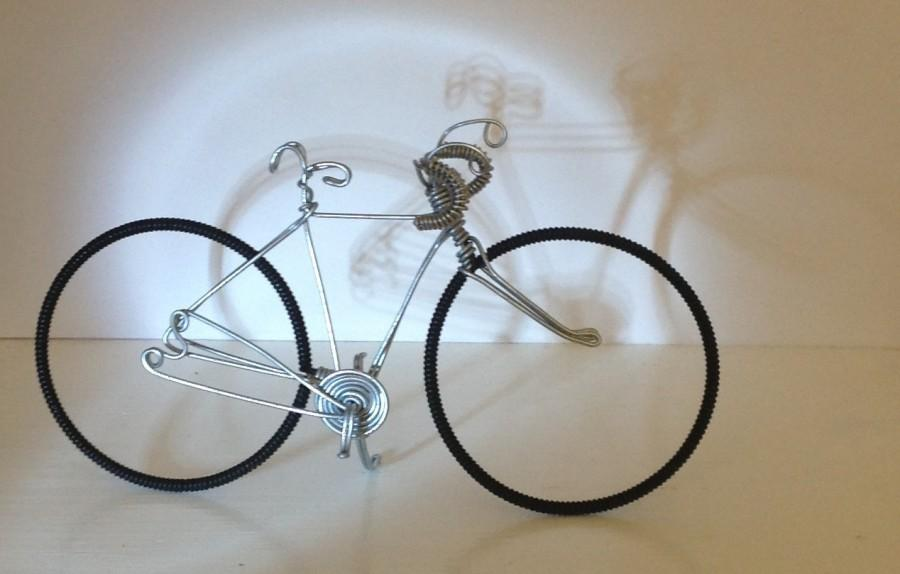 Mariage - Racer Wire Bicycle Sculpture cake topper