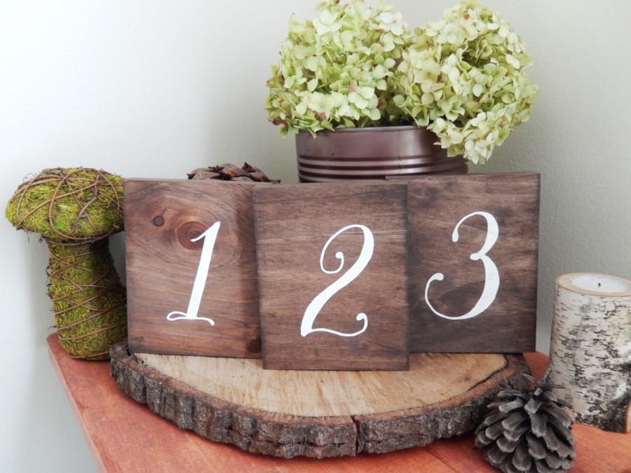 Set Of Twenty 20 Wood Table Numbers Wedding Table Numbers Rustic