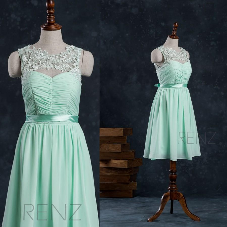 2015 mint lace chiffon bridesmaid dress see through dress 2015 mint lace chiffon bridesmaid dress see through dresswedding dress party dress formal dress prom dress knee length f007a ombrellifo Images