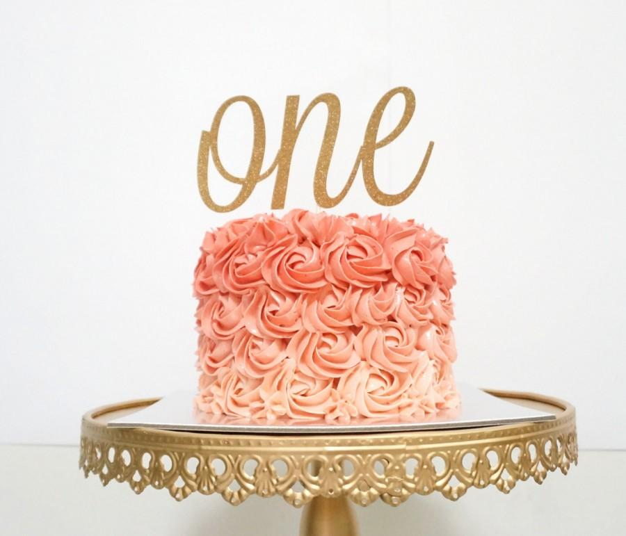 One Cake Topper First Birthday Cake Topper One Year Old Cake