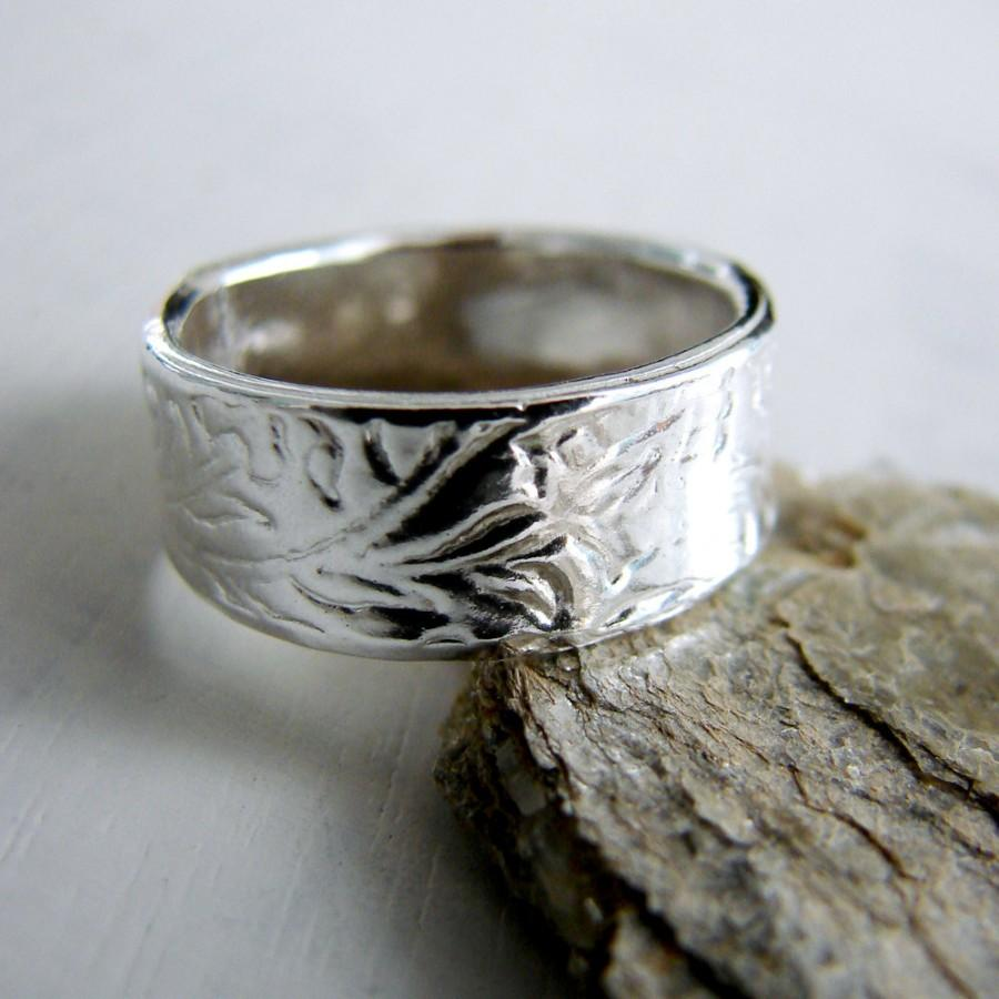 7mm Wedding Band Paisley Ring Sterling Silver Engravable