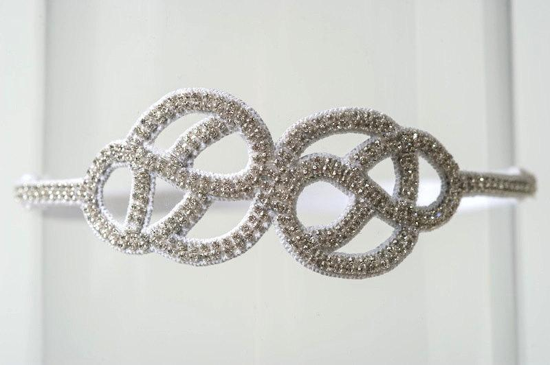 "Wedding - Wedding Garter Rhinestone Couture Bridal Garter ""Joy"""