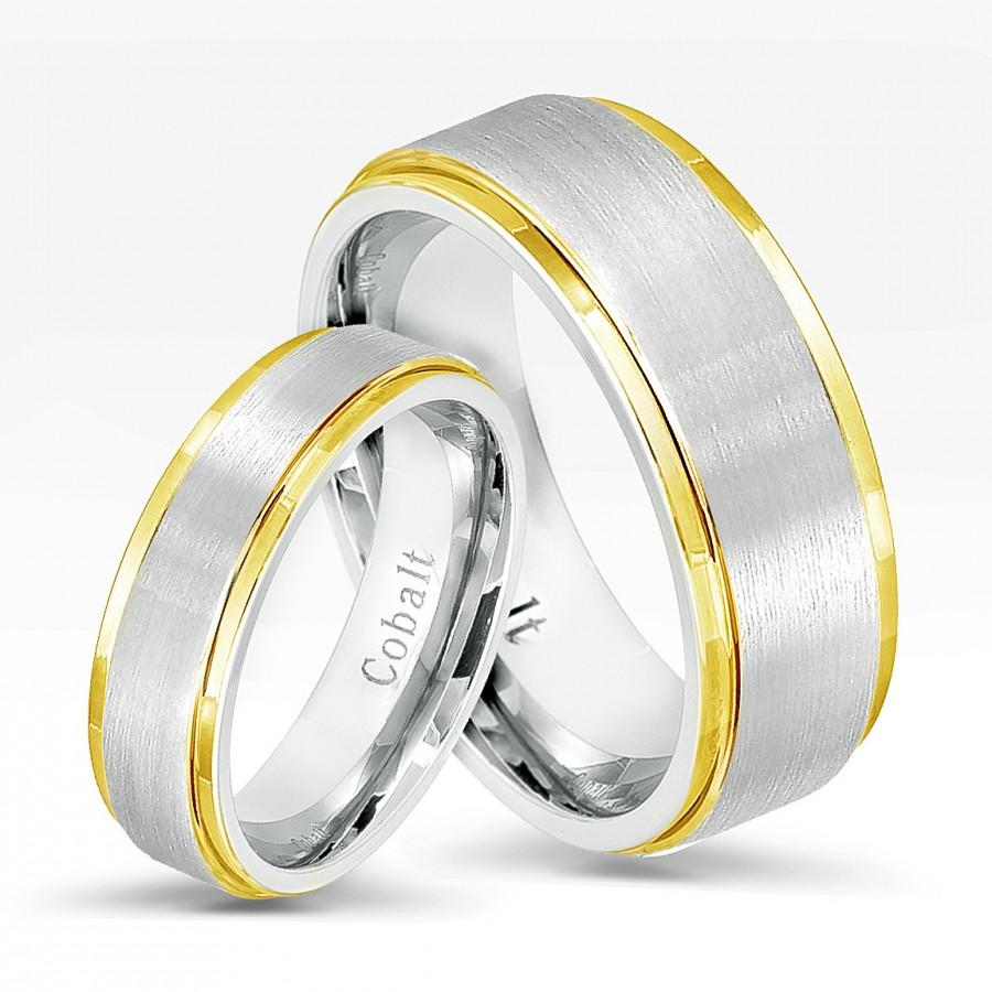 the mens materials for face cobalt of left alpha comparing on right rings wedding is types ring with a brushed tungsten
