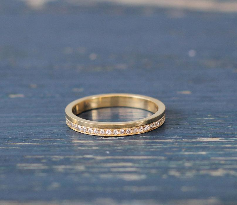 Hochzeit - Diamond eternity ring , unique eternity ring , stackable diamond ring , eternity ring gold , eternity diamond ring , thin diamond ring