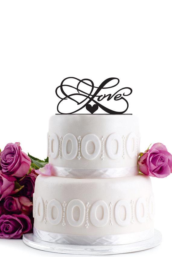 Mariage - ON SALE !!! Wedding Cake Topper - Wedding Decoration - Cake Decor - Monogram Cake Topper - For Love - Anniversary Cake Topper