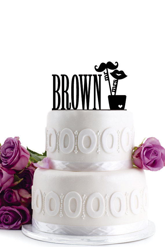 Mariage - ON SALE !!! Wedding Cake Topper - Personalized Cake Topper - Mr and Mrs - Monogram Cake Topper - Cake Decor - For Anniversary
