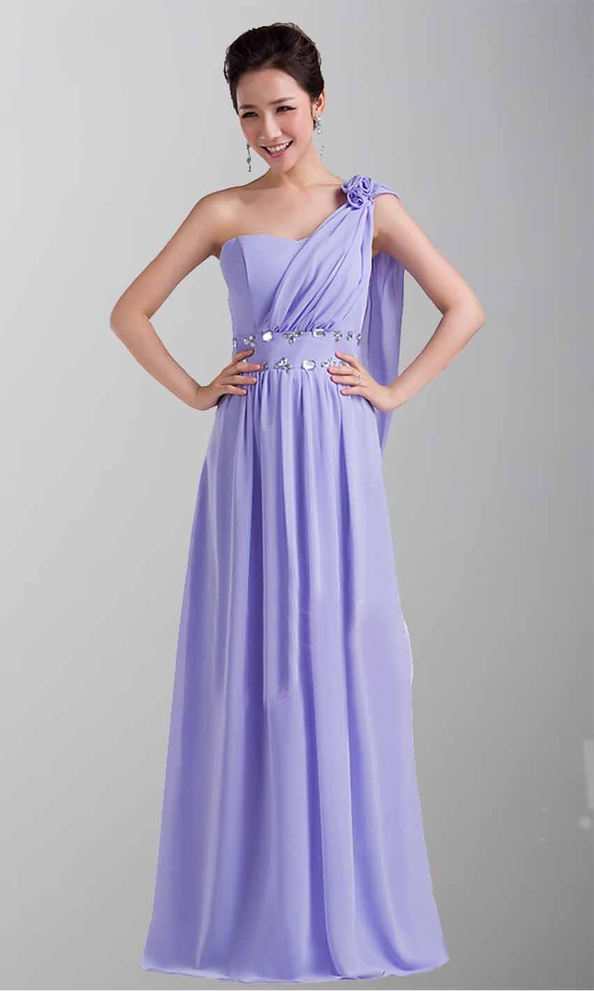 Inexpensive Navy Blue One Shoulder Dress For Grade Prom KSP071 ...