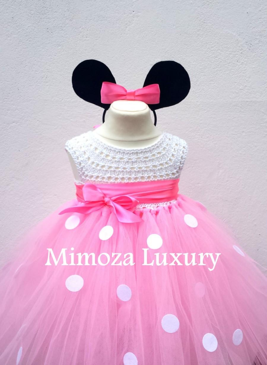 Minnie Mouse Dress Minnie Mouse Birthday Dress Flower Girl Dress ...
