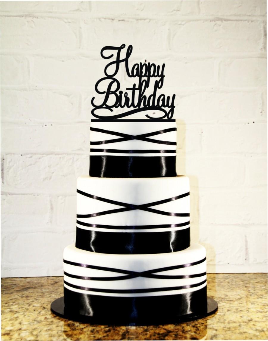 Свадьба - Happy Birthday Cake Topper