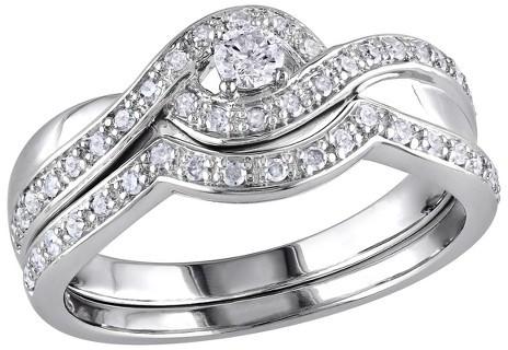 Wedding - Diamond 1/3 CT. T.W. Diamond Bridal Ring Set in Sterling Silver (GH I2-I3)