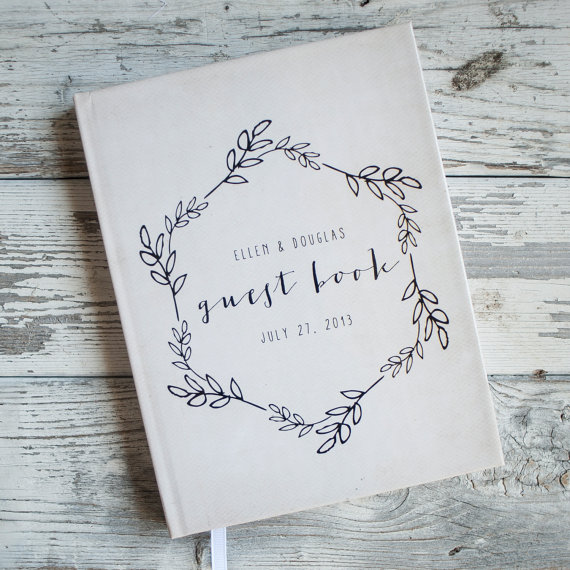 Wedding Guest Book Guestbook Custom