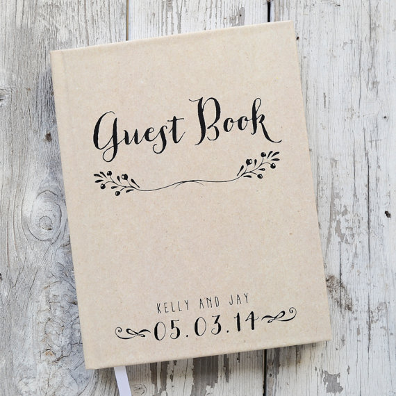 Wedding - Wedding Guest Book Wedding Guestbook Custom Guest Book Personalized Customized rustic wedding keepsake wedding gift guestbook rustic unique