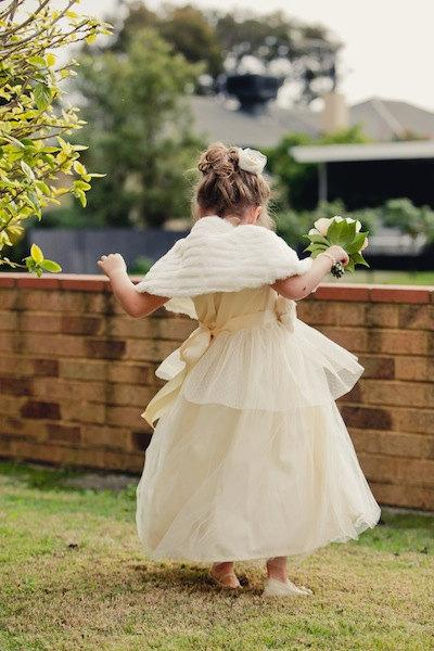 Wedding - Vintage style Flower Girl Dress,  natural Organic cotton flower girl dress, lace flower girl dress, tulle flower girl dress