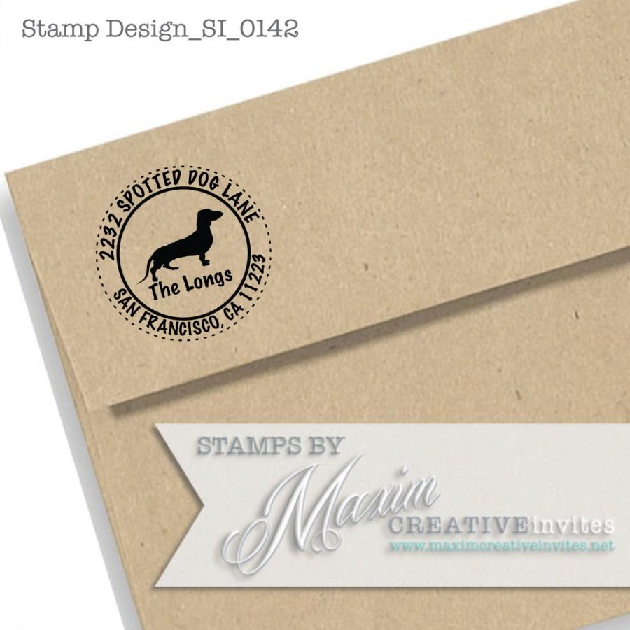 Personalized Dachshund Dog Self Inking Rubber Stamp Gift Return Address Etsy Shop Labels DESIGN SI0142by Maxim Creative Invites