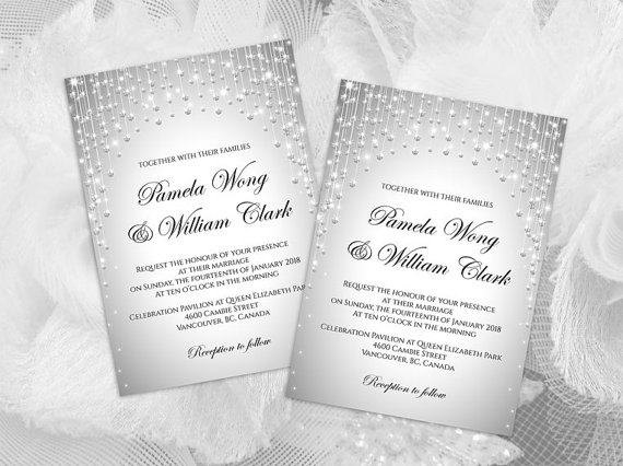 Wedding - DIY Printable Wedding Invitation Card Template