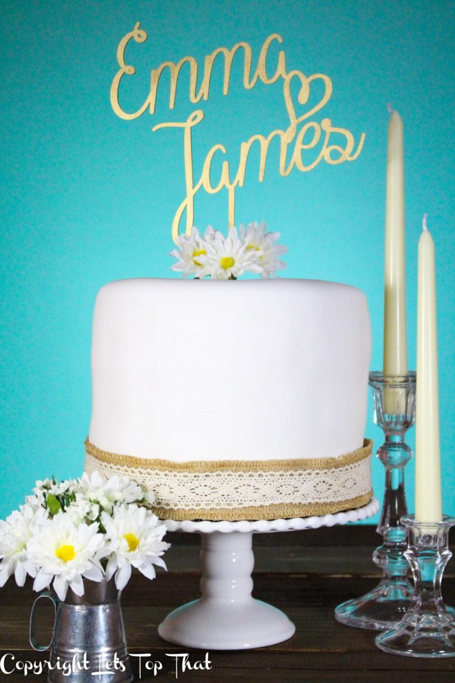 Boda - Wedding Cake Topper for Whimsical Love Mr and Mrs Custom First Name