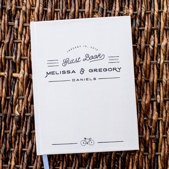Wedding - Wedding Guest Book, Wedding Guestbook, Custom Guest Book, Personalized guest book, Customized guest book, rustic guest book gay wedding gift