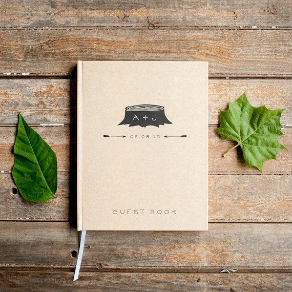 Düğün - Wedding Guest Book Wedding Guestbook Custom Guest Book Personalized Customized custom design rustic guest book wedding gift tree wedding