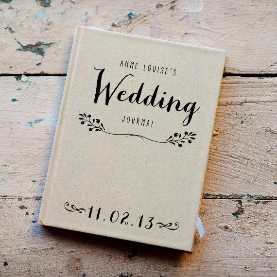 Wedding Journal Notebook Wedding Planner Personalized