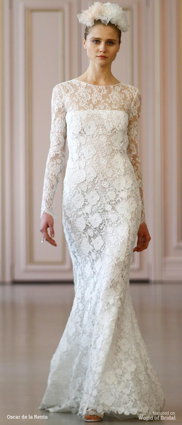 Hochzeit - Oscar de la Renta Spring 2016 Wedding Dresses