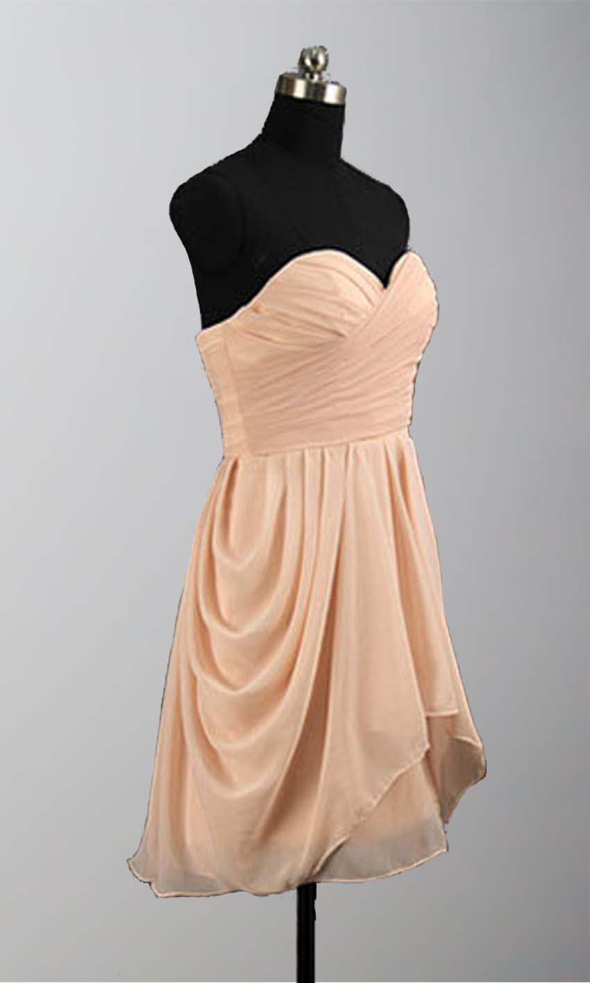 Wedding - Peach Ruching High Low Mini Bridesmaid Dresses KSP295 [KSP295] - £78.00 : Cheap Prom Dresses Uk, Bridesmaid Dresses, 2014 Prom & Evening Dresses, Look for cheap elegant prom dresses 2014, cocktail gowns, or dresses for special occasions? kissprom.co.uk of