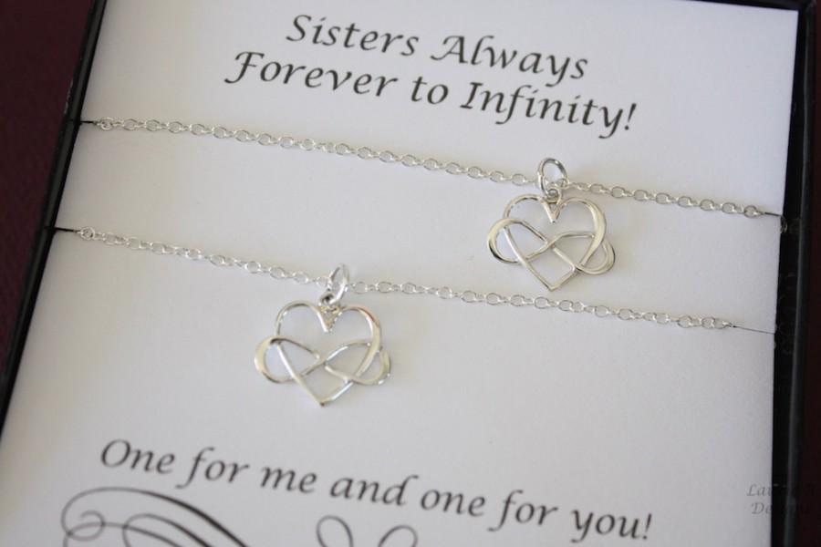friendship necklace gift set 2 infinity heart necklaces