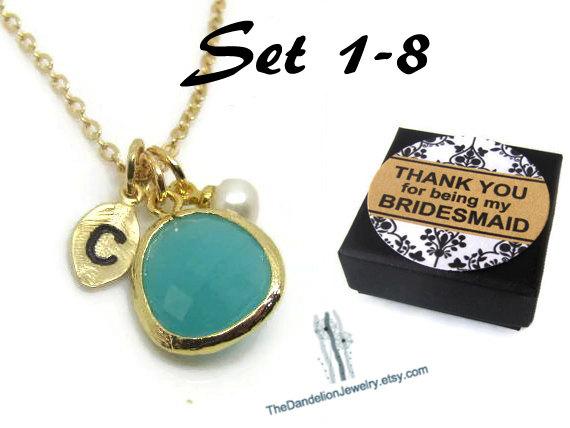 Свадьба - SALE 10% OFF: Bridesmaid Gift Necklace Personalized Necklace Personalized Jewelry Weddings Bridal Necklace Wedding Jewelry Message Card
