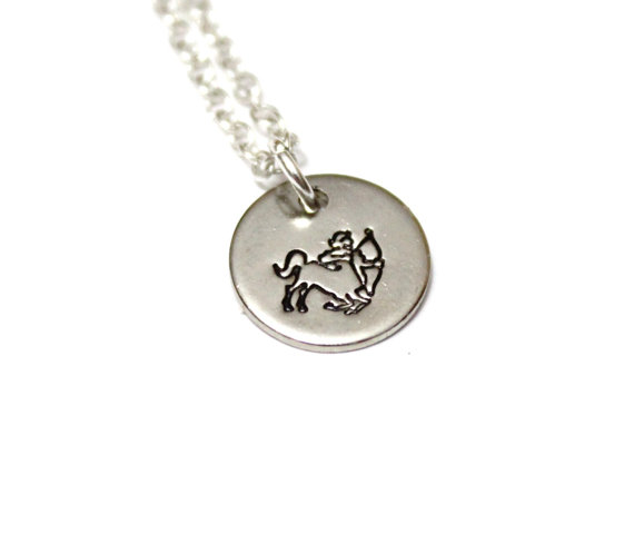 Sagittarius Pendant Sagittarius Zodiac Sign SILVER Horoscope Pendant