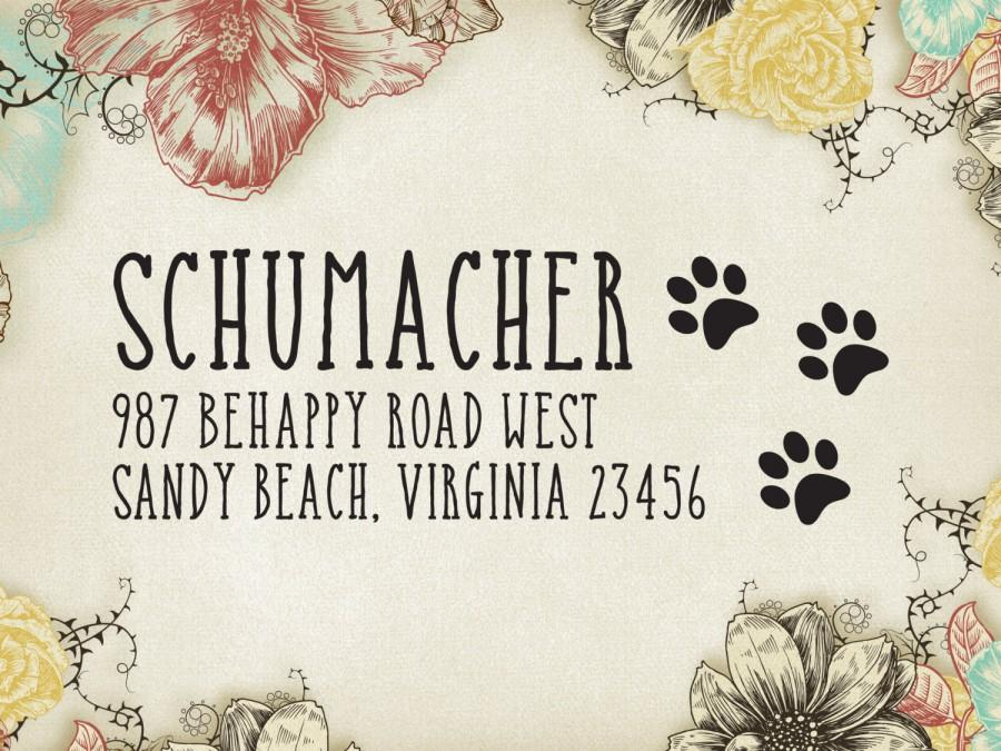 Hochzeit - Pet Return Address Stamp Custom Paw Print Dog & Cat Address Stamp - Self-inking Rubber Stamp - Pet Store Stamp, Stationery Stamper 24