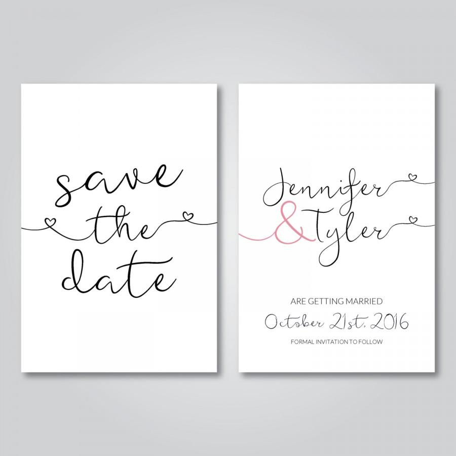 Save The Date Printable Wedding Invitation Digital Download