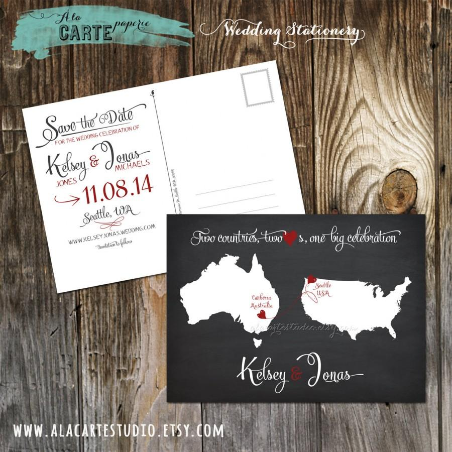 Chalkboard-inspired Two Countries, Two Hearts, One Big Celebration ...