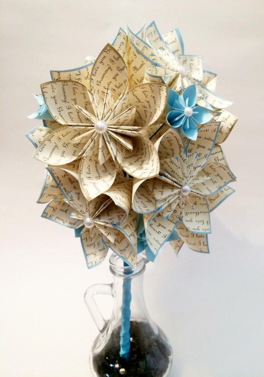 A Dozen I Love Yous Paper Flowers Something Blue Wedding 1st