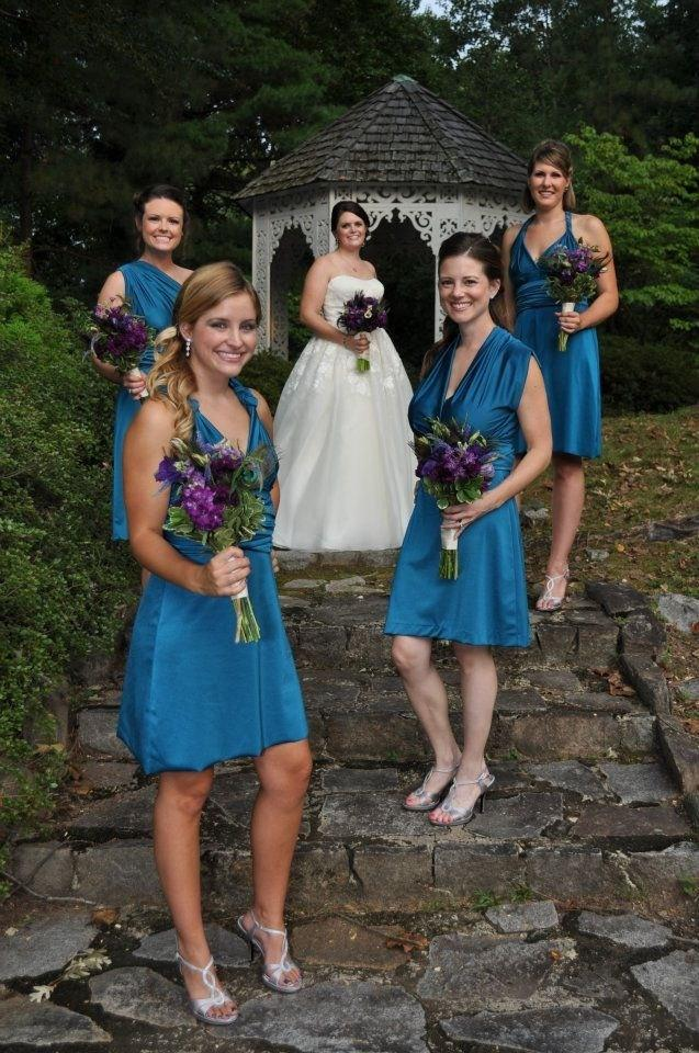 Свадьба - SALE Medium Convertible Wrap Dress Knee Length... Bridesmaids, Beach, Vacation, Wedding, Honeymoon, Cocktail Party, Holiday