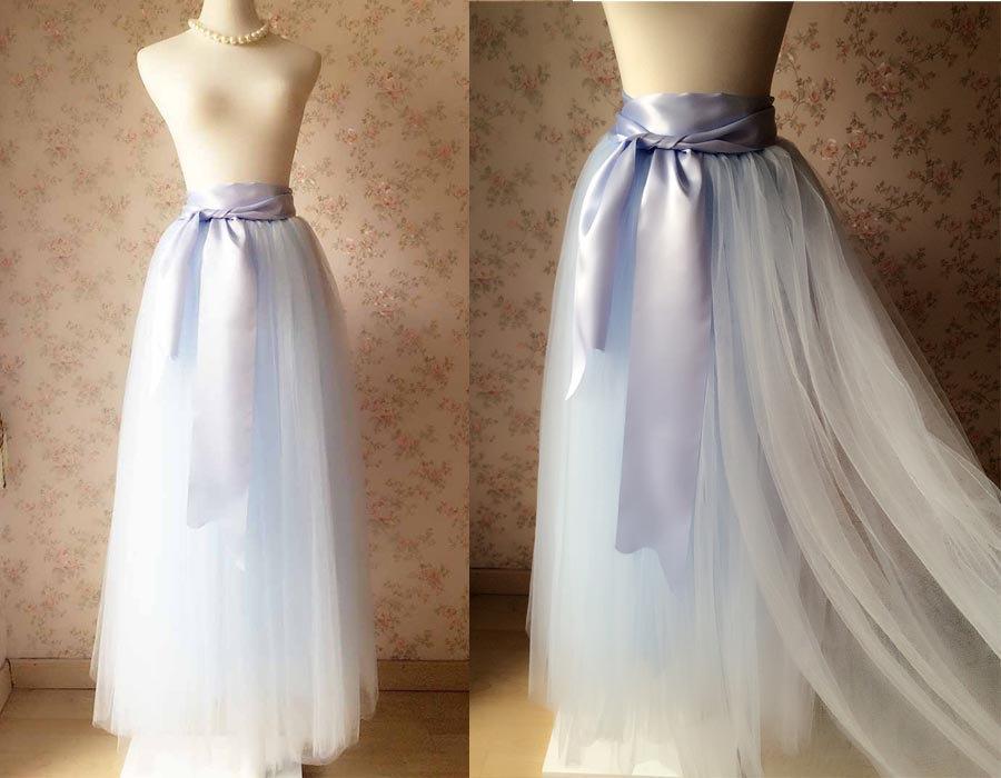 Full length maxi tulle skirt adult maxi tulle skirt for How to make a long tulle skirt for wedding dress