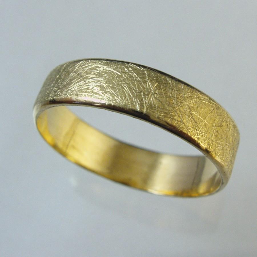 Goldring ehering  Unisex Ring, Man Wedding Band, Woman Wedding Band,14 Karat Gold ...