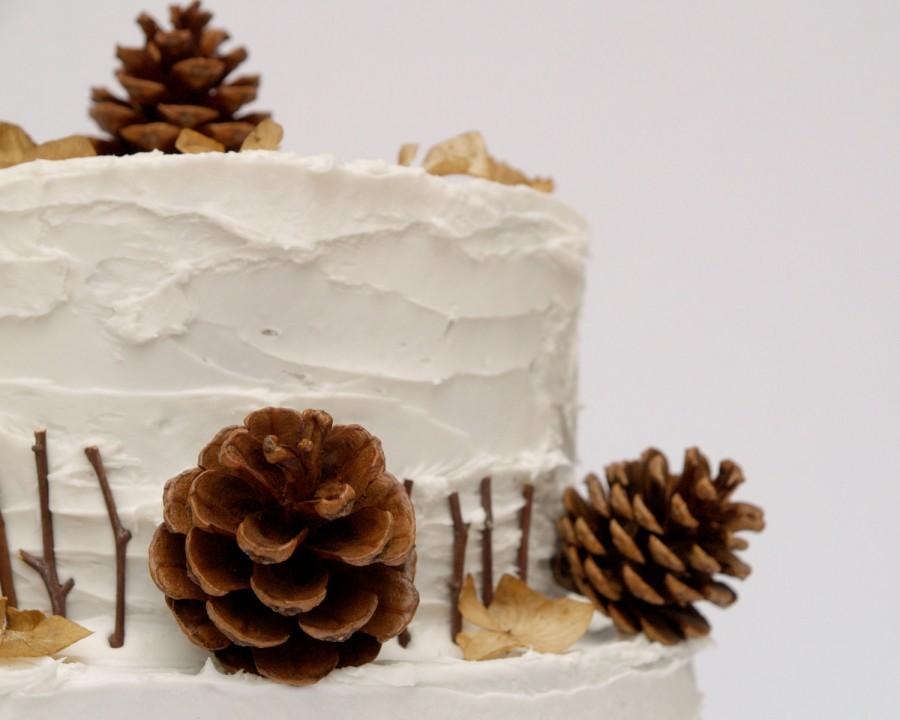 Pine Cone Cake Topper Decorations For Your Wedding Cake Rustic