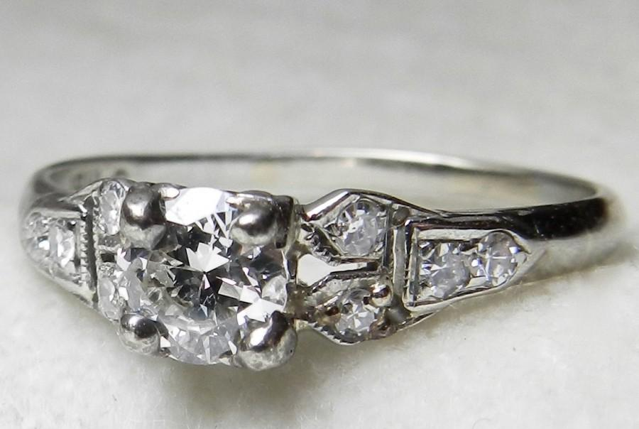 Art deco 1920s wedding rings