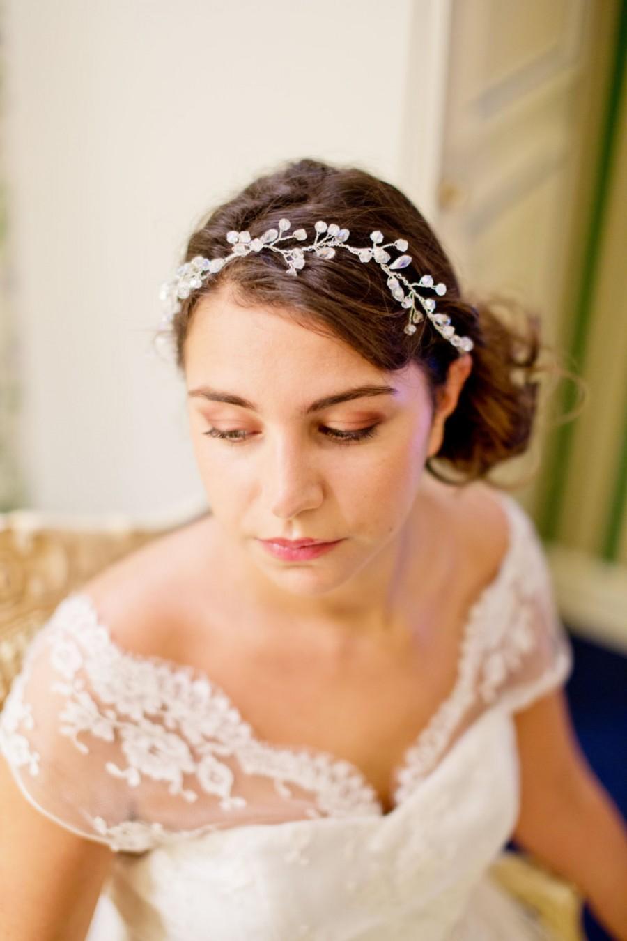 Wedding Hair Accessory Bridal Crown Crystal Beads