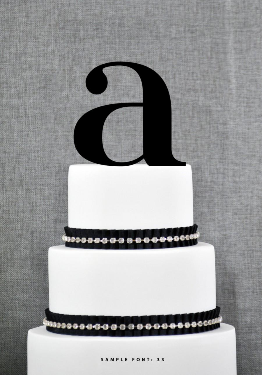 Wedding - Letter A - Initial Cake Topper, Monogram Wedding Cake Topper, Custom Cake Topper