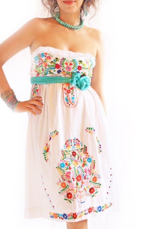 White Mexican Dress