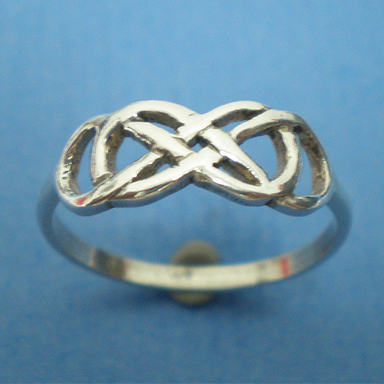 Sterling Silver Double Infinity Ring Infinity Celtic Knot Ring