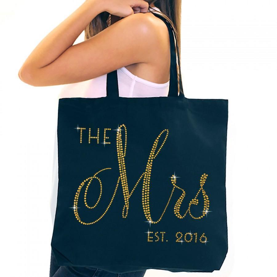 زفاف - Bride Tote : Mrs Tote Bag, Jumbo Bride's Tote,  Bridal Shower Gift, Bachelorette Party, Engagement, Carryall, Gold Bride Tote, Bridal Tote