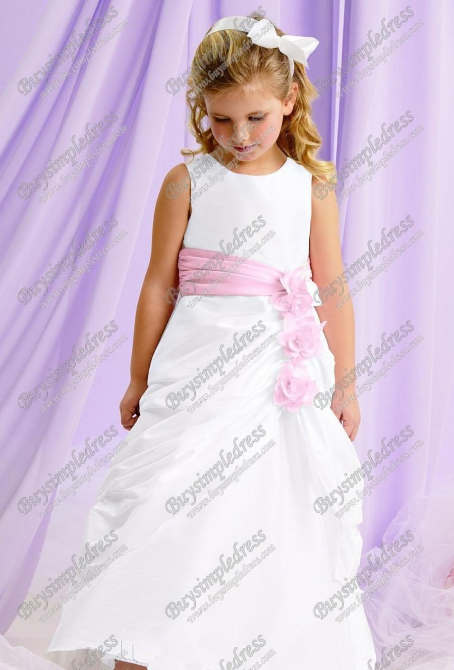 Wedding - Taffeta Flower Dress By Jordan Sweet Beginnings Collection L121