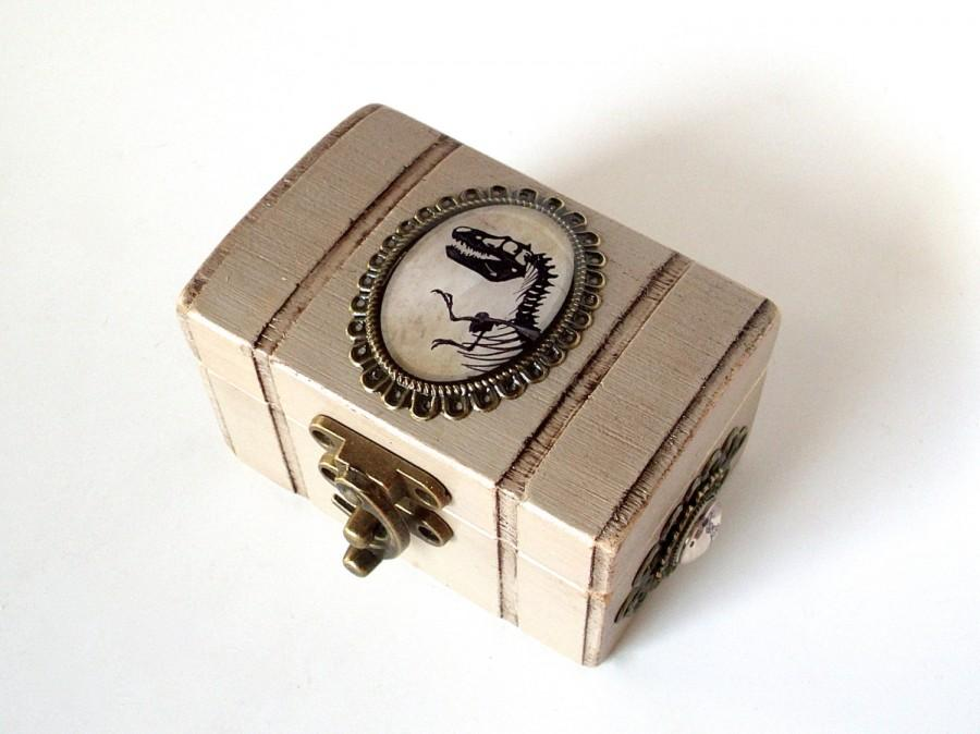Mariage - Dinosaur Engagement Ring Box - Wedding Ring Bearer Box - Tyrannosaurus Rex - Jurassic Wedding