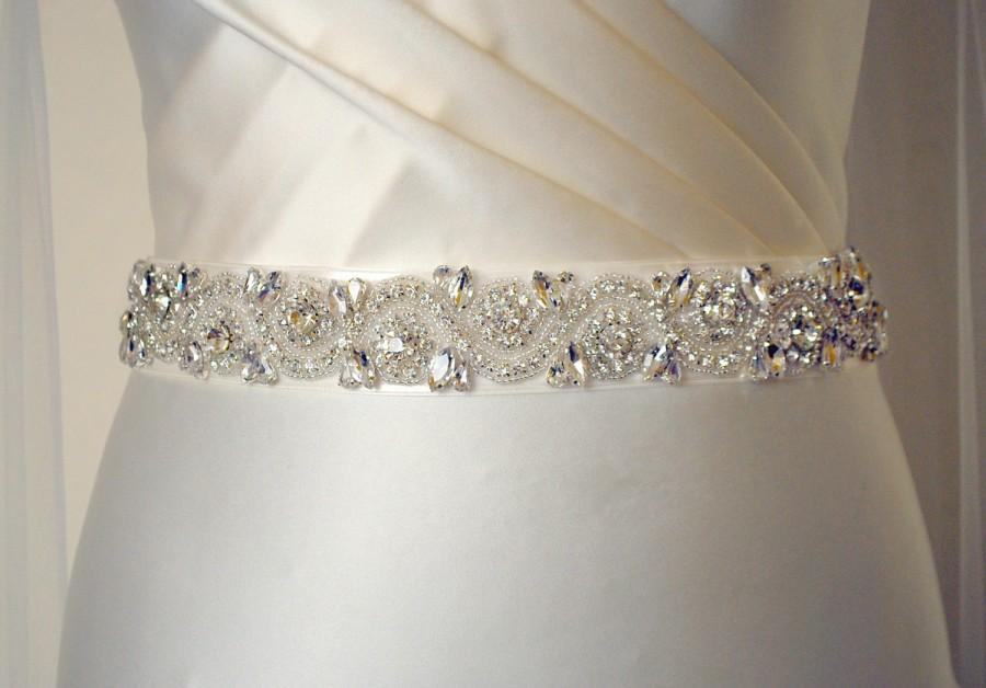 All Around Wedding Dress Belt Embellishments Beaded Bridal