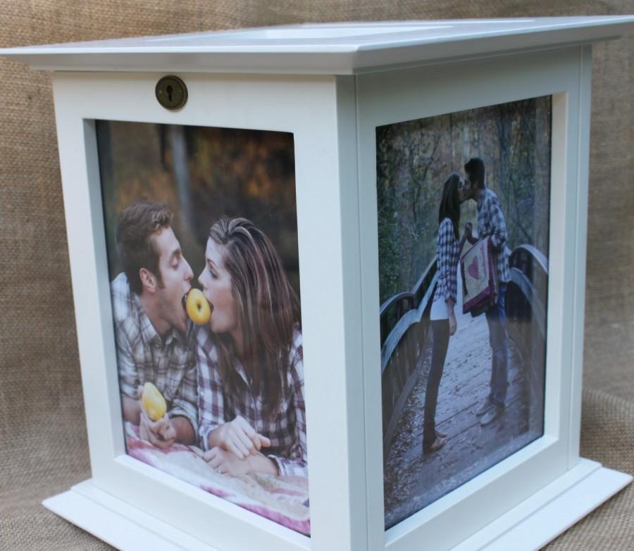 Свадьба - Locking Ivory Wedding Card Box with NO personalization