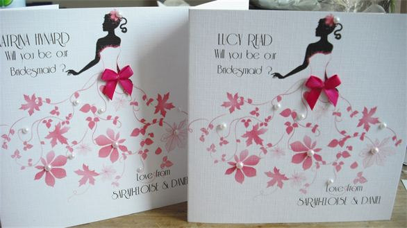"Hochzeit - Personalised  ""Will you be my Bridesmaid?"" card"